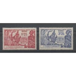 Saint-Pierre et Miquelon - 1939 - No 189/190 - neuf avec charnière