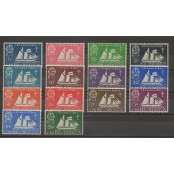 Saint-Pierre et Miquelon - 1942 - No 296/309 - neuf avec charnière
