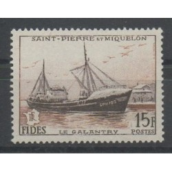 Saint-Pierre and Miquelon - 1956 - Nb 352 - Boats