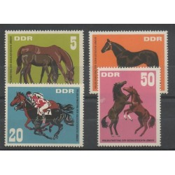 East Germany (GDR) - 1967 - Nb 999/1002 - Horses