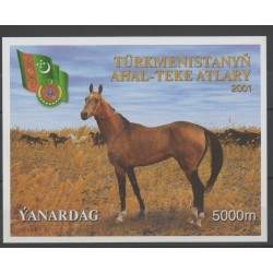 Turkménistan - 2001 - No BF 31 - Chevaux