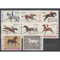 Pologne - 1967 - No 1590/1597 - Chevaux