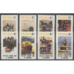 Pologne - 1980 - No 2483/2490 - Chevaux