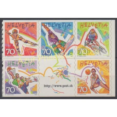 Suisse - 1998 - No 1586/1590 - Sport