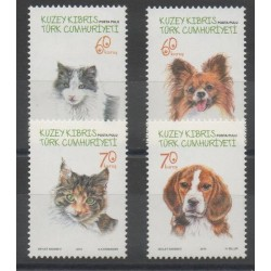 Turquie - Chypre du nord - 2015 - No 763/766 - Chiens - Chats