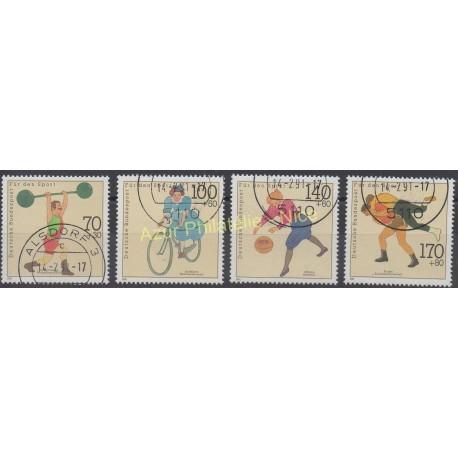 Allemagne - 1991 - No 1331/1334 - Sport - Oblitéré