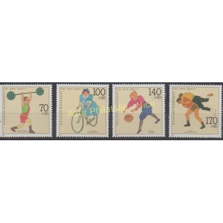 Allemagne - 1991 - No 1331/1334 - Sport