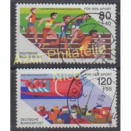 West Germany (FRG) - 1986 - Nb 1101/1102 - Sport - Used