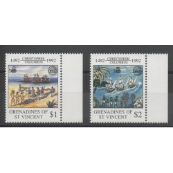 Saint-Vincent (Iles Grenadines) - 1992 - No 734/735 - Christophe Colomb