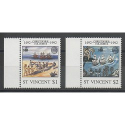 Saint Vincent - 1992 - Nb 1514/1515 - Christopher Colombus