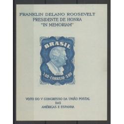 Brésil - 1949 - No BF 11 - Célébrités