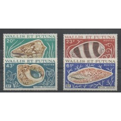Wallis and Futuna - 1976 - Nb 192/195 - shells