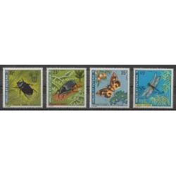 Wallis et Futuna - 1974 - No 185/188 - Insectes
