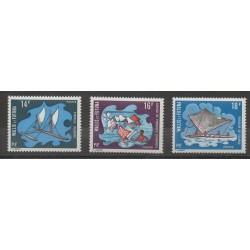 Wallis et Futuna - 1972 - No 182/184 - bateaux
