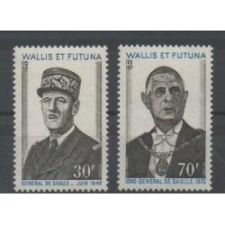 Wallis et Futuna - 1971 - No 180/181 - de Gaulle