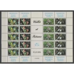 Wallis et Futuna - 1982 - No 286/289 feuille - orchidées