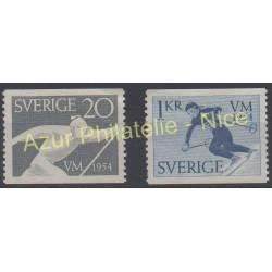 Suède - 1954 - No 385/386 - Sport - Neuf avec charnière
