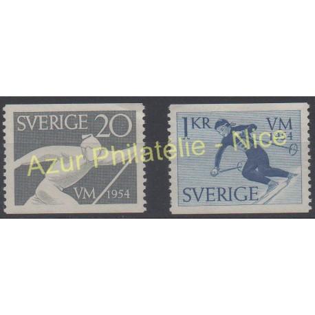 Sweden - 1954 - Nb 385/386 - Sport - Mint hinged