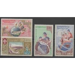 Laos - 1958 - Nb 51/54