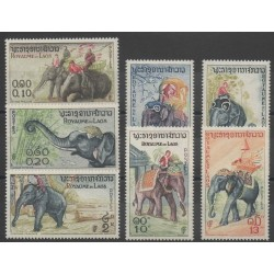 Laos - 1958 - No 44/50 - animaux divers