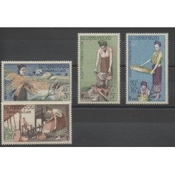 Laos - 1957 - Nb 40/43