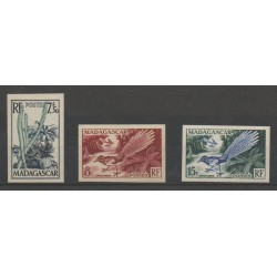 Madagascar - 1954 - Nb 322/324 ND - birds