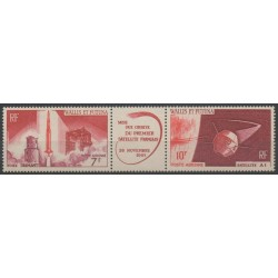 Wallis and Futuna - Airmail - 1966 - Nb PA 24/PA 25 - space