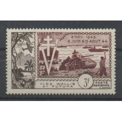 Wallis and Futuna - Airmail - 1954 - Nb PA 14 - Second World war - Stamps on stamps