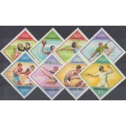 Hongrie - 1972 - No 2236/2243 - Jeux olympiques d'été