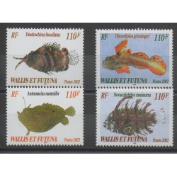 Wallis et Futuna - 2002 - No 583/586 - poissons
