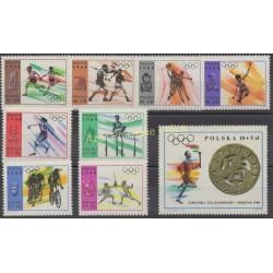 Pologne - 1968 - No 1705/1713 - Jeux olympiques d'été