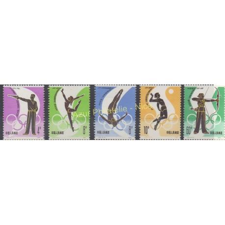 Timbres - Thème jeux olympiques d'été - Chine - 1980 - No 2380/2384