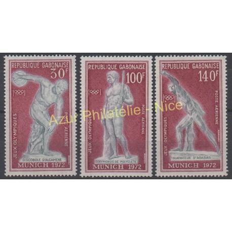 Gabon - 1972 - No PA 129/ PA 131 - Jeux olympiques d'été