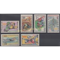 Tchécoslovaquie - 1964 - No 1354/1359 - Jeux olympiques d'été