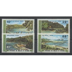 Wallis and Futuna - Airmail - 1975 - Nb PA 67/PA 70 - Sites