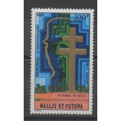 Wallis et Futuna - Poste aérienne - 1977 - No PA74 - De Gaulle