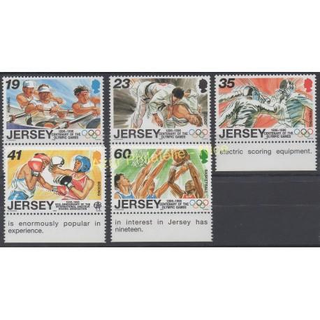 Jersey - 1996 - No 736/740 - Jeux olympiques d'été