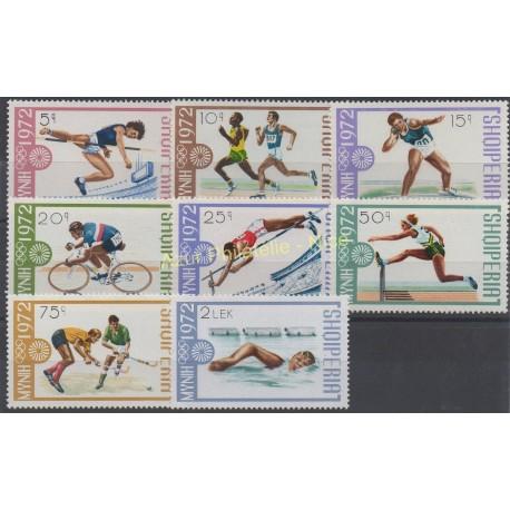 Albanie - 1972 - No 1372/1379 - Jeux olympiques d'été
