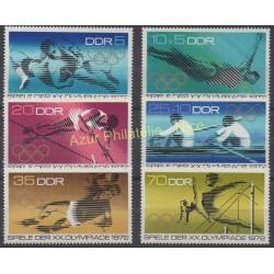 Allemagne orientale (RDA) - 1972 - No 1440/1445 - Jeux olympiques d'été