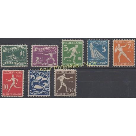 Pays-Bas - 1928 - No 199/206 - Jeux olympiques d'été - Neuf avec charnière