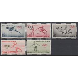 Ruanda-Urundi - 1960 - No 220/223 - Jeux olympiques d'été