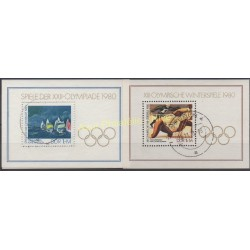 East Germany (GDR) - 1980 - Nb BF 55 - BF 58 - Summer olympics - Used