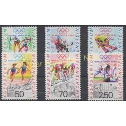 Liechtenstein - 1991 - No 971/973 - 976/978 - Jeux olympiques d'été