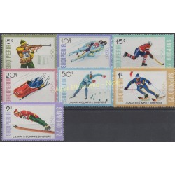 Albania - 1972 - Nb 1344/1350 - Winter olympics