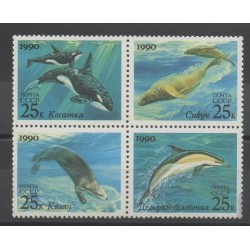 Russia - 1990 - Nb 5791/5794 - sea life