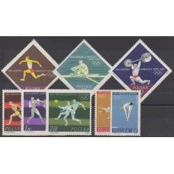 Pologne - 1964 - No 1370/1377 - Jeux olympiques d'été