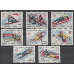Autriche - 1975 - No 1308/1311 - 1328/1331 - Jeux olympiques d'hiver