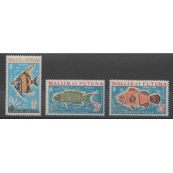 Wallis and Futuna - 1963 - Nb T37/T39 - fishes