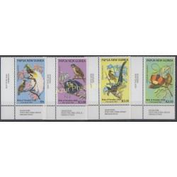 Papouasie-Nouvelle-Guinée - 2008 - No 1239/1242 - Oiseaux