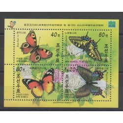 North Korea - 2000 - Nb 2939/2942 - butterflies
